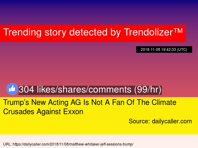 Trump S New Acting Ag Is Not A Fan Of The Climate Crusades Against Eon Stats