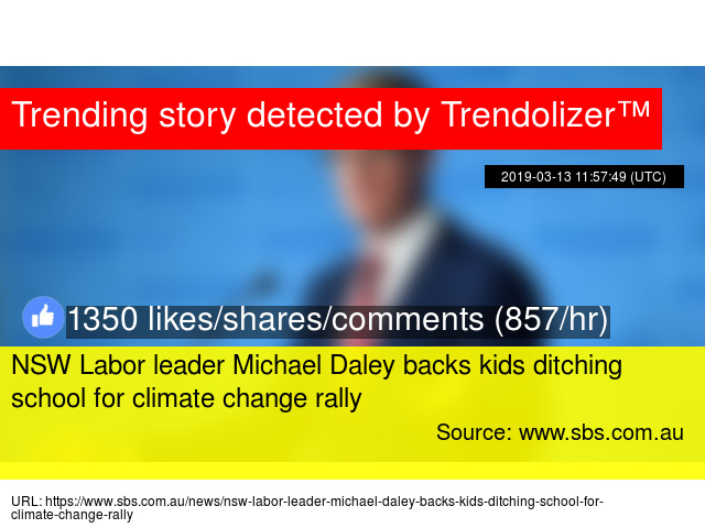 NSW Labor leader Michael Daley backs kids ditching school