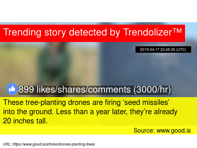 These tree-planting drones are firing 'seed missiles' into