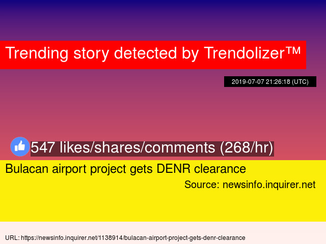 Bulacan airport project gets DENR clearance