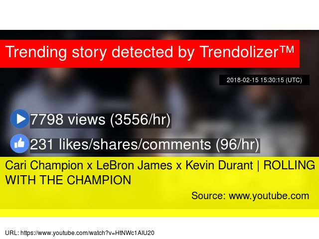 separation shoes b55df ff8e7 Cari Champion x LeBron James x Kevin Durant   ROLLING WITH THE CHAMPION
